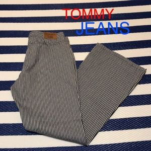 Tommy Jeans Vintage Pin Stripe Bell Bottom Size 13